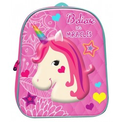 Unicorn Ryggsäck Junior 3D Motiv Skolväska 35x26x11cm 3D Unicorn Backpack Believe in M Unicorn 259,00 kr product_reduction_pe...