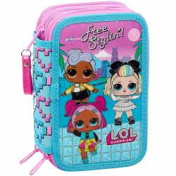 L.O.L. Surprise LOL Free Stylin´ 36-pcs Triple School Set Pencil Case