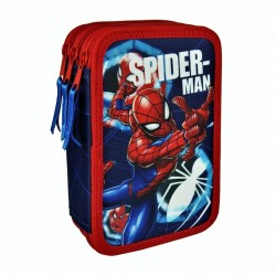 Spiderman Triple School Set Filled 42-pieces Blue/Red
