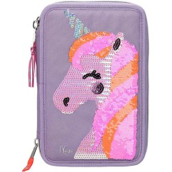 Ylvi and the Minimoomis Unicorn Naya Sequins 44-pieces Penaaleita Triple Set Pencil Case