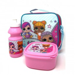 L.O.L. SURPRISE LOL Shoulder Bag With Lunch Box And Water Bottle