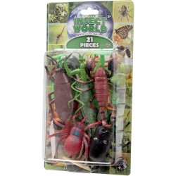 Natural World 21pcs Insect Play Set Assorted 5-15cm Mix