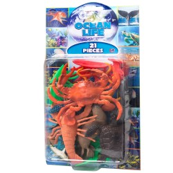 Natural World 21pcs Sea Life Playset Assorted 5-15cm Mix