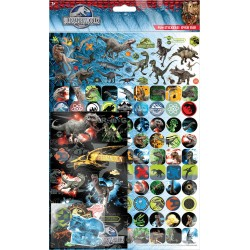 Jurassic World Dinosaurs 150pcs Fun Foiled Re-usable Mega Sticker Pack