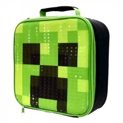 Minecraft Creeper Blød frokostpose Madkasse Opbevaringspose 23x23x8cm