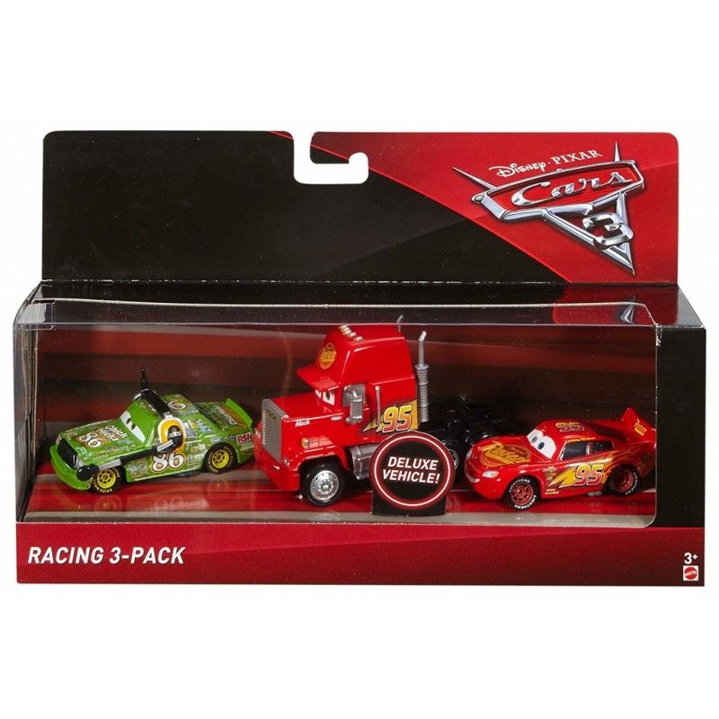 Disney Pixar Cars 3 Deluxe Racing 3-Pack Bilar McQueen Mack