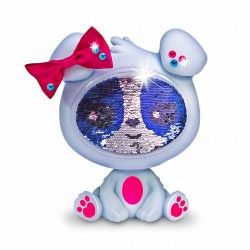 The Zequins Krystal Grey Dog Doll With Sequins