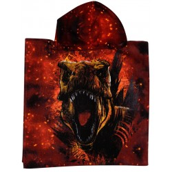 Jurassic World T-Rex Kids Double Sided Hooded Towel Poncho 100*50cm
