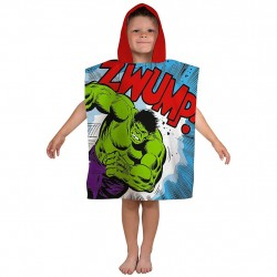 Marvel Comics Retro Avengers Hulk Thor Double Sided Hooded Towel Poncho 115*50cm