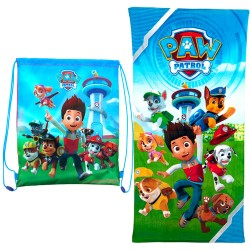 2in1 Pack Paw Patrol Beach Towel + Gymbag