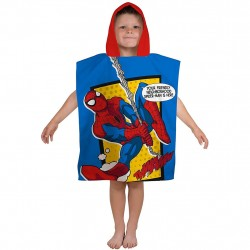 Spiderman Kids Double Sided Hooded Towel Poncho 115*55 cm