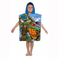 Turtles Double Sided Hooded Towel Poncho 115*50cm