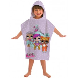L.O.L. Surprise! Theatre Club Kids Double Sided Hooded Towel Poncho 115*50cm