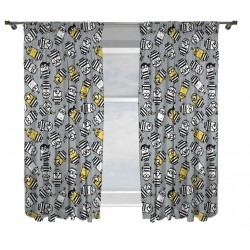 Minions Jailbird Verhot Ready Made Curtains 168cm x 183cm