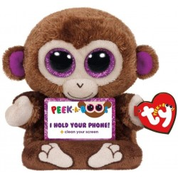 TY Peek-A-Boos Chimps Monkey Phone Holder Pehmo