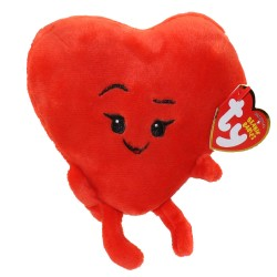 TY Baby Beanies Emoji Heart Toy Plush Hearts