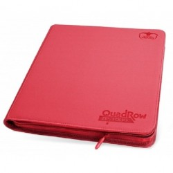Ultimate Guards - QuadRow Zipfolio - 480 Cards - RED