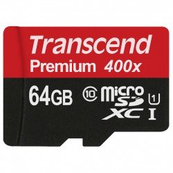 Transcend Premium microSDHC Class 10 UHS-I 400x 64GB TS64GUSDU1 Transcend 399,00 kr product_reduction_percent
