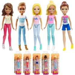 1st Barbie On The Go Series Fashion Doll Mini Docka 10cm 1-Pack Barbie On The Go Series F BARBIE 99,00 kr