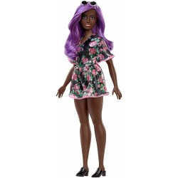 Barbie Fashionistas Doll 125 Mörkhyad Docka Med Lila Hårfärg Barbie Fashionistas Doll #125 FX BARBIE 279,00 kr
