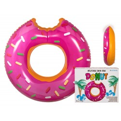 Giant Candy Sprinkle Glazed Donut Water Tube Toy 117cm PINK