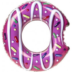 "Giant Candy Sprinkle Glazed Donut Water Tube Toy 90cm,36"" PINK"