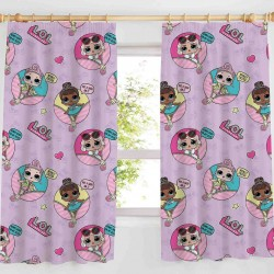 L.O.L. Surprise! LOL Glam Curtain Pink 168cm x 183cm