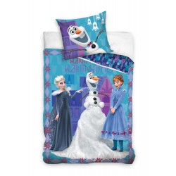 Disney Frost Frozen Warm Wishes Sovepose Sengesæt 140x200 + 70x80 cm
