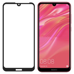 Full Screen Huawei Y6 2019 Tempered Glass Screen Protector Black Retail