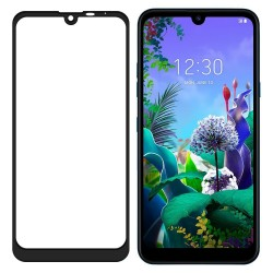 Full Screen LG Q60/LG K50 Tempered Glass Screen Protector Black Retail
