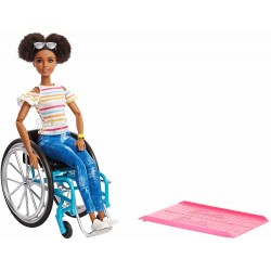 Barbie Fashionistas Doll 133 Brunette With a Wheelchair And Ramp