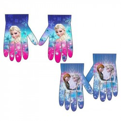 2-Pairs Disney Frozen Elsa Anna Gloves Children Mittens One Size