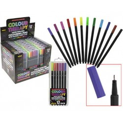 Colour Therapy 12-Pack Tusch Pennor Fineline 0,5 mm Måla 384051 CT 12 Tuch Pennor PMS 119,00 kr product_reduction_percent