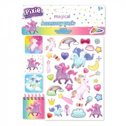 Pixie Pony Unicorn Puffy Stickers Bokmärken Block Klistermärken Pixie Pony Accessory Pack Grafix 59,00 kr