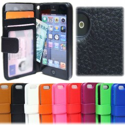 iPhone 5C Wallet Case Cover ID / Photo pocket 3pcs cards