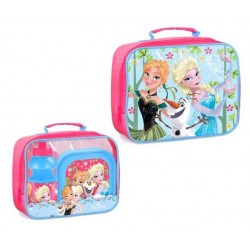 Disney Frozen Frost Shoulder bag with lunch box and water bottle