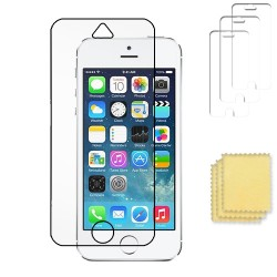3-pack Apple iPhone 5C skärmskydd transparent med putsduk