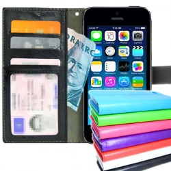 TOPPEN iPhone 4/4S Wallet Case ID pocket, 3pcs Cards + Wrist strap