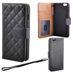 Quilted Luxury Wallet Case iPhone 6 PLUS/6s PLUS, Black