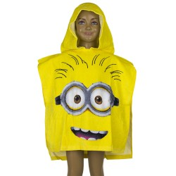Minions Kids Double Sided Hooded Towel Poncho 110*55 cm