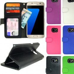 Wallet Case Samsung Galaxy S7 with ID Photo Pocket, 4pcs Card Slot