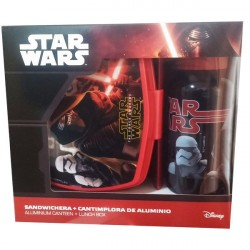 Star Wars episode VII The force awakens lunch box and aluminium bottle
