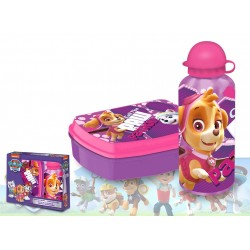 Paw Patrol lunch box and aluminium bottle Pink