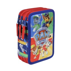 Paw Patrol, Triple Skolset, 43-delt pen, Blue & RED