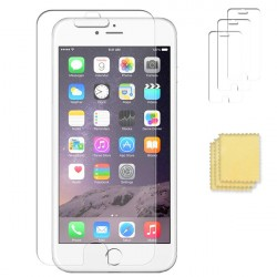 3-PACK iPhone 6/6S PLUS Skärmskydd Transparent + Putsduk