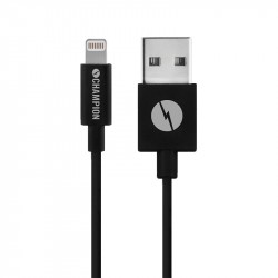 Champion Charge & Sync Cable 3m Black Lightning