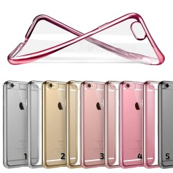 Crystal Case Slim Soft Cover iPhone 7 & iPhone 8 + Tempered Glass
