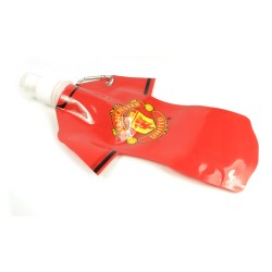 Manchester United Foldable Water Bottle With Carabiner 350ml