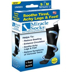 Support / Compression Socks, Miracle Socks, 1 Pair, Black