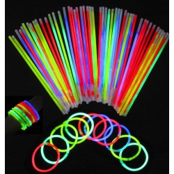 Glowsticks, Glow, Lysestager, Armbånd, Party, 50-Pack